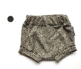 Korte broek Luipaard print zand