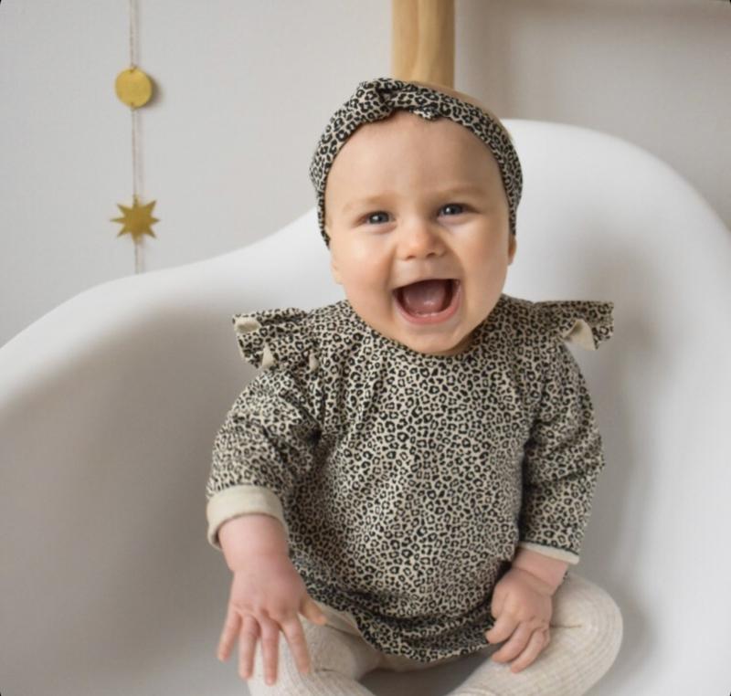 Sweater dress luipaard