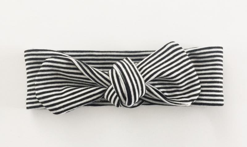 Haarband Zwart wit streepje