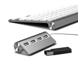 Aluhub 4 poorts USB Hub