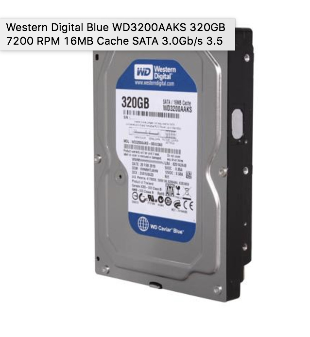 WD3200AAKS 320GB 7200 RPM HDD