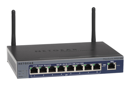 Netgear Prosafe FVS318N Draadloze router 8-poorts switch ( Showmodel )
