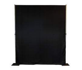 Pipe & Drape Wentex Systeem zwart glazend per meter
