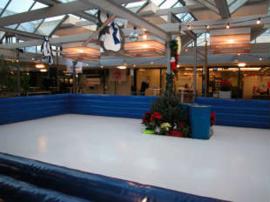 Kunstschaatsbaan 60m2 incl. schaatsen