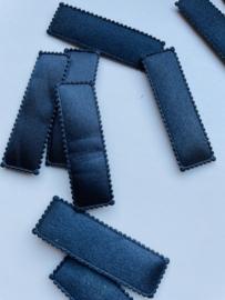 Kniphoesje ZWART RECHTHOEK 5,5 cm- 10 stuks