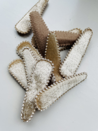 Kniphoesje BEIGE FLUWEEL 5,5 cm- 10 stuks