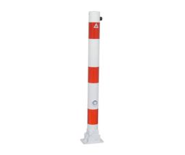 Ronde parkeerpaal 76 mm, inklapbaar, met driehoekslot.