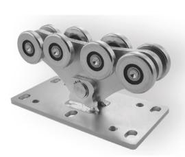 CA SPEED M grote voetplaat, Achtvoudig wielenblok voor vrijdragende/zelfdragende schuifpoort. medium.