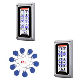 2x Codeclavier Kijzer S212 Small RVS Vandaalbestendig met 10 Jettons RFID, ideaal voor binnen en buiten op uw poort, voordeur ed. (97,95 p/st).