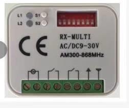 Kijzer RX-Multi ontvanger, Wanneer een vervangende handzender niet mogelijk is.