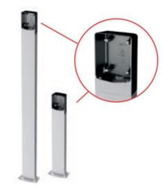 Ditec Entrematic AXC50 en 100.  paaltje voor montage van codeclavier, sleutelcontact, sensoren.