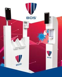 Entree zuil met mogelijkheid om de BOS BS-DET2000BTscanner te monteren.