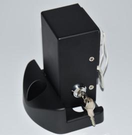 Electro mech. pen-slot K23 met 15mm slag.  (grondgrendel) Met midden-aanslag,  Poortstop.