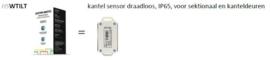 HSWTILT kantel sensor draadloos, IP65, voor sektionaal en kanteldeuren
