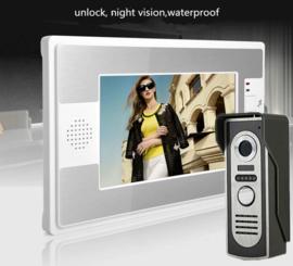 Vision-122 full colour, complete set, bedrade videofoon, extra smal,7 inch full colour monitor.  gegarandeerd de laagste prijs. Geheel metalen buiten-unit !!!