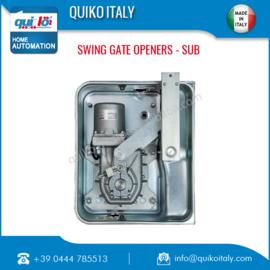Quiko Sub Professional, ondergrondse poortopener set voor vleugels tot 3 meter en tot 350kg .