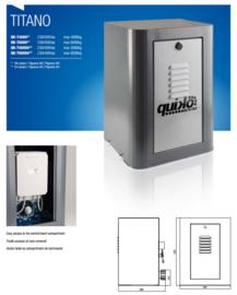 Quiko Titano, QK T4000 400V  Module 4 of 6 tandwiel, motor-unit, voor schuifpoorten tot 4000kg,