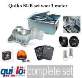 Quiko Sub Professional, ondergrondse poortopener set voor 1 vleugel tot 3 meter en tot 350kg .