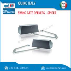 Quiko Spider , tot 5 meter poort-vleugel,  knikarm motoren voor zeer grote penanten.  en tot 1 meter dik.