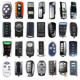 Gratis handzender hulp-pakket. U zoekt een vervangende of andere handzender voor uw poort of garage motoren,  Maar u weet het merk , type of de frequentie niet?