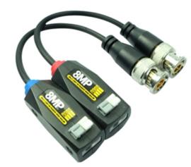 Passieve UTP zender / ontvanger met 10 cm microcoax kabel.