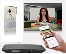 Vision-126 met codeclavier full colour ip PL960M,  Met controlcam skybox videofoon, RVS buitenpost, 7 inch full colour monitor, en controlbox , zodat u naast de binnenpost ook via uw smartphone kan kijken en de poort openen.