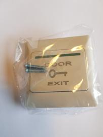 Drukknop extra plat, opbouw.  Door Exit.
