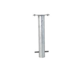 Specificaties Afmeting900x76 mm (hxd) Voetplaat100x150 mm (hxb) Wanddikte2,6 mm Uitvoeringvolbad verzinkt en gecoat Slotdriehoekslot DIN3223.