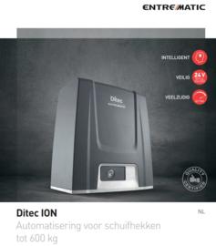 """Ditec entrematic ION6 industrial,  tot 600kg.  Met Roling code..dus niet te (""""hacken"""")."""