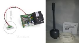 Proteco Ontvanger-module P-ONTM met antenne en 2 zenders ( voorzien van 433mhz code.). Uw poort reageert plots niet meer op al uw zenders, dan is meestal deze print defect.