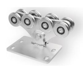CA SPEED MEK assymetrisch, Achtvoudig wielenblok voor vrijdragende/zelfdragende schuifpoort. medium.