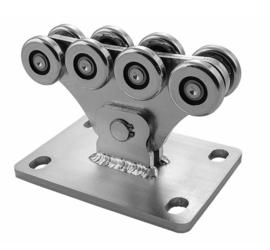 CA SPEED S Achtvoudig wielenblok gelast voor vrijdragende/zelfdragende schuifpoort. small