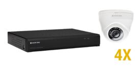 2 MP HD KIT met 4 vaste optische domecamera's