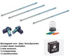 Montageset Ditec schuifpoort openers.
