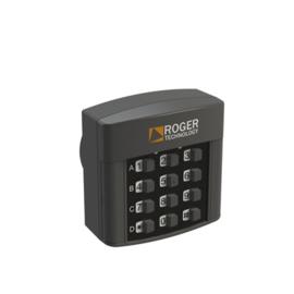 ROGER H85/TDR/I Inbouw codeklavier, draadloos met 12 digitale nummers, 4 kanalen voor rolling code en vaste code.