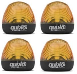 set van 4 Quiko Knipperlampen 24 v zonder ingebouwde knipper printplaat.