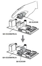 Quiko slot module QK ELOCKM.  werkt alleen met het origineel quiko slot.  niet met andere sloten.
