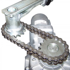 180° kit.  tandwielen en ketting voor 1 x SUB ondergrondse motor