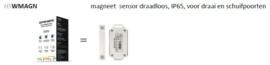 HSWMAGN magneet sensor draadloos, IP65, voor draai en schuifpoorten