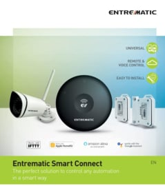 NIEUW: Entrematic Smart Connect De perfecte oplossing om elke automatisering te beheren, op een slimme manier.  Met stemherkenning via uw GSM.