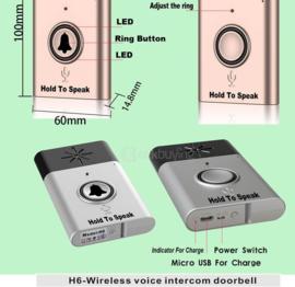H6 draadloze bel intercom