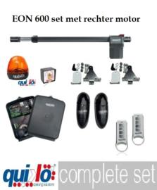 Quiko EON 600 230v. Rechter motor set,  professional. voor poorten met vleugels van 1,5 tot 6 meter en tot 1200kg.