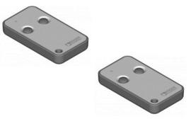 2 stuks Roger handzender E80/TX52R - E80/TX54R - M80/TX44R 433mhz.  (29,95 p/st)