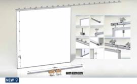 CA HANGAR 2.2  met 5,6 meter looprail. Hangar set Schuifpoort met alle onderdelen Panelen niet inbegrepen