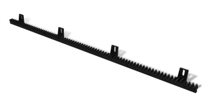 1 meter kunststof tandlat module 4.  versterkt met stalen kern inwendig.  extra sterk en stil.