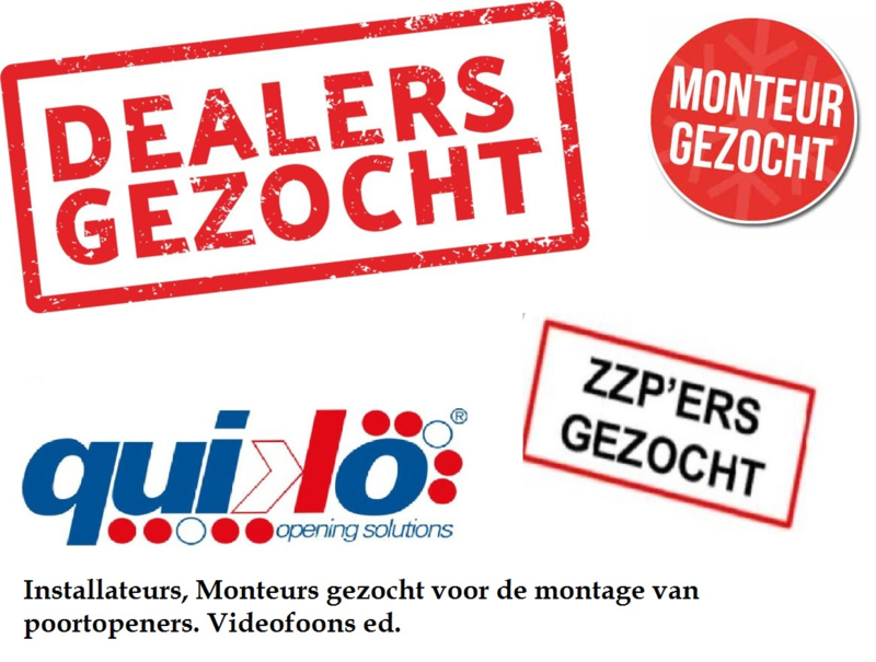 Dealers, installateurs gezocht.