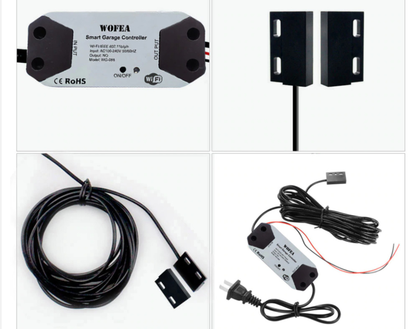 K-408 wofea, uniek type WIFI switch.  met uw GSM uw poort / garagedeur openen en op uw GSM zien of de deur open of dicht is.