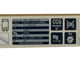 25 X OSRAM LED Röhre 20W 120 Cm 3000K