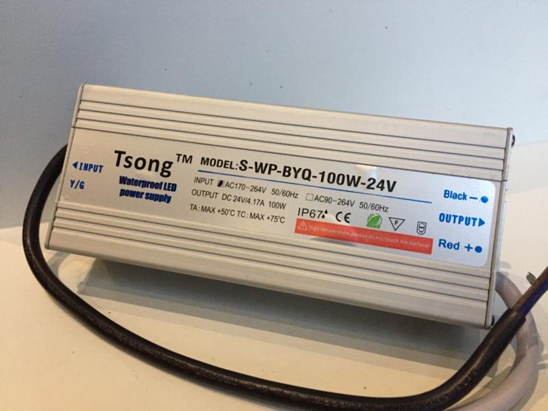 Voeding 24V DC 100Watt Waterproof
