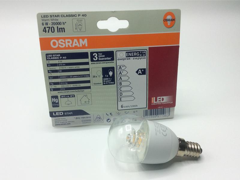 OSRAM LED Lamp 6W 2700K